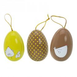 Packaging pour chocolatiers - Petits Œufs Métalliques Joyeuses Pâques