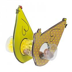 Emballage alimentaire de pâques - Set de 6 Cocottes et 3 Tubes Transparents