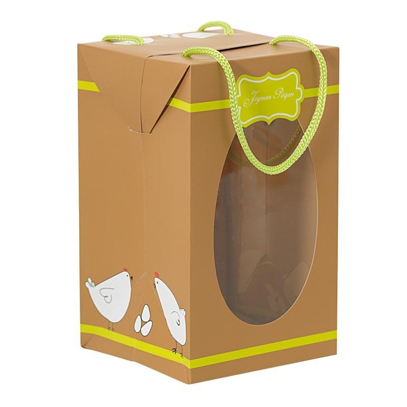 Packaging alimentaire chocolatiers - Sac Boîte Œuf Joyeuses Pâques