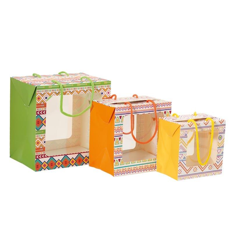 Packaging de Pâques pour chocolatiers - Sac Boîte Poule Apache