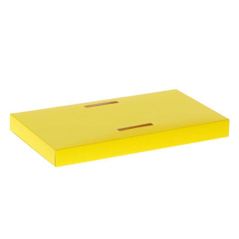 Packaging de Pâques pour chocolatiers pâtissiers - Socle poule Jaune