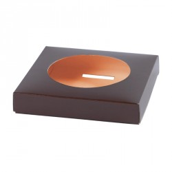 Accessoire Packaging de Pâques - Socle Œuf Bicolore Chocolat / Orange