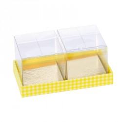 Packaging alimentaire original pour chocolatiers, Pâtissiers, confiseurs à Pâques - Jardinière Vichy