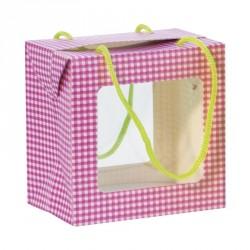 Emballage alimentaire Pâques pour pâtissiers - Sac Boîte Poule Vichy