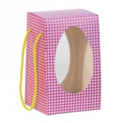 Emballage alimentaire pour Pâques - Chocolatiers - Sac Coffret Œuf Vichy