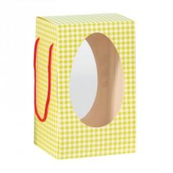 Emballage alimentaire pour Pâques - Pâtissiers - Sac Coffret Œuf Vichy