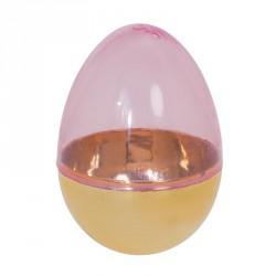 Packaging alimentaire de luxe pour Pâques - Oeuf Plastique Doré et Rose