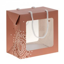 Emballage alimentaire de luxe pour Pâques - Sac Boîte Poule en chocolat Éclat