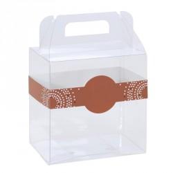 Boîte transparente - Baggy Poule avec Bague Éclat pour poule chocolat