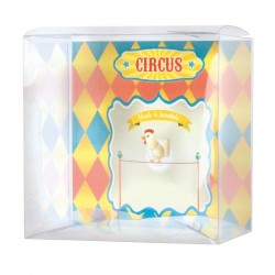 Emballage alimentaire Pâques chocolat - Zeus Poule avec Carte Circus
