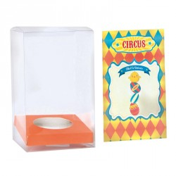 Emballage de Pâques pour chocolatiers - Zeus Œuf avec Carte Circus