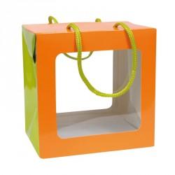Emballage alimentaire pour les fêtes - Sac Boîte Poule Pâques Orange