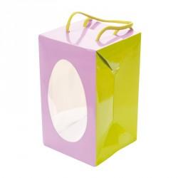 Emballage alimentaire coloré festif - Sac Boîte Œuf Pâques Mauve