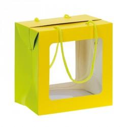 Emballage alimentaire pour les fêtes - Sac Boîte Poule Pâques Jaune