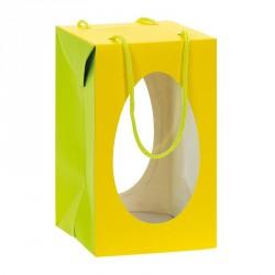 Packaging alimentaire pour les fêtes - Sac Boîte Œuf Pâques Jaune
