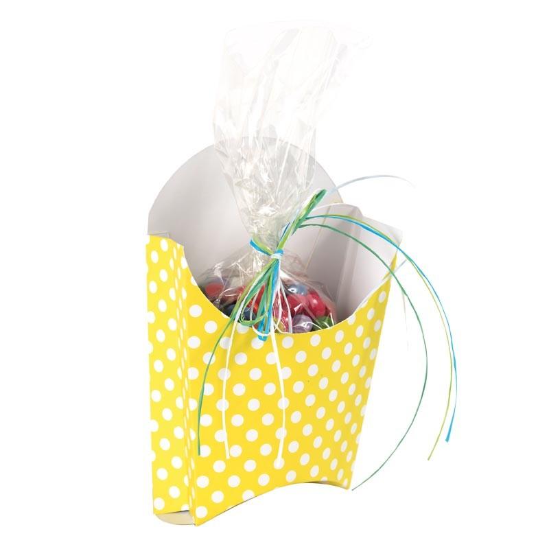Packaging alimentaire chocolatiers confiseurs - Memphis Pâques Jaune