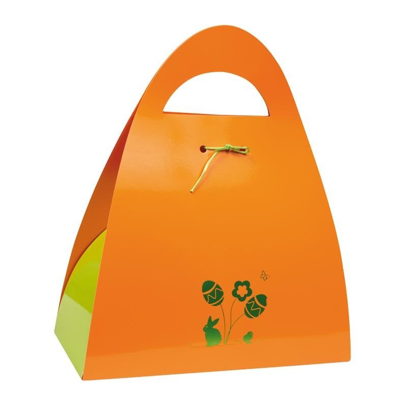Packaging  alimentaire sac personnalisable - Ursule Pâques Orange
