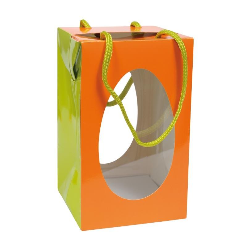 Packaging alimentaire pour les fêtes - Sac Boîte Œuf Pâques Orange
