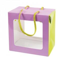 Packaging alimentaire pour les fêtes - Sac Boîte Poule Pâques Mauve