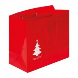 Sac cabas rouge avec cliché Joyeux Noël