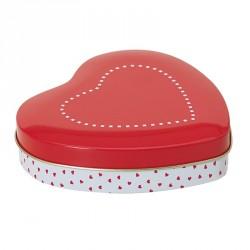 Coeur Métallique Pomme d'Amour - Packaging Saint-Valentin