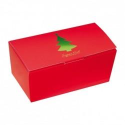 Ballotin rouge avec cliché Joyeux Noël