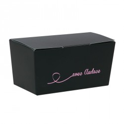 Ballotin Noir Audace - Packaging Saint-Valentin