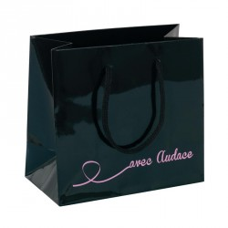 Sac Cabas Noir Audace - Packaging Saint-Valentin