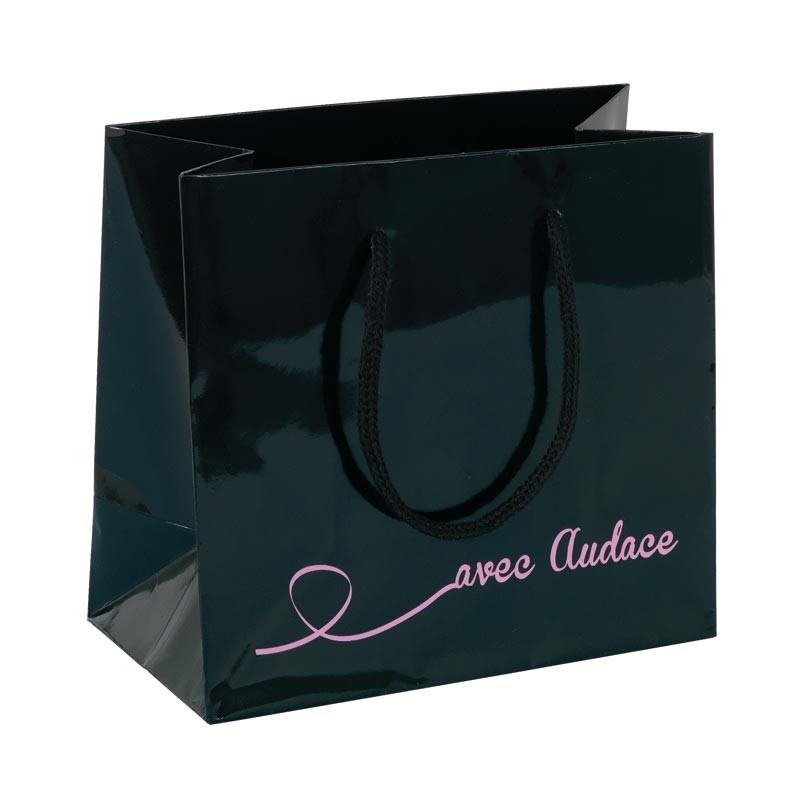 Sac Cabas Noir Audace - Packaging Saint-Valentin
