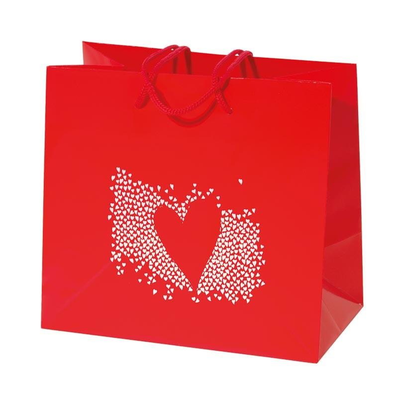 Sac Cabas Rouge Alchimie - Packaging Saint-Valentin
