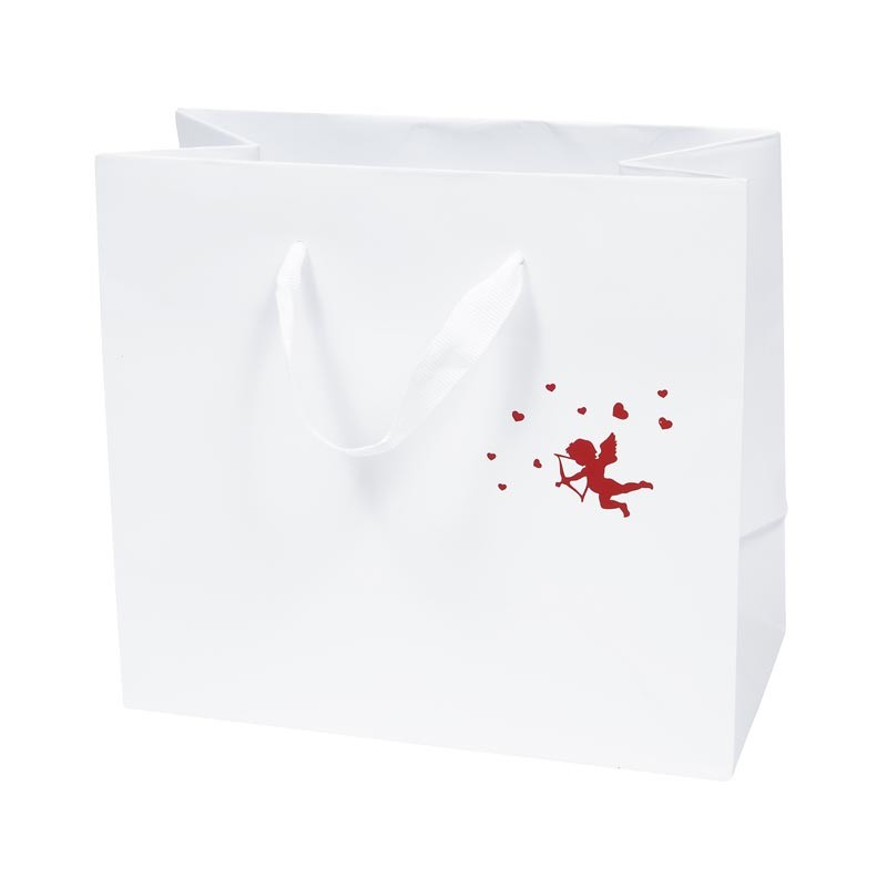 Sac Cabas Blanc Cupidon - Packaging Saint Valentin
