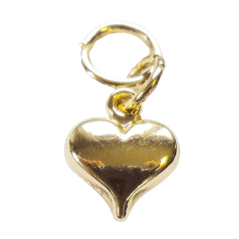 Pendentif Cœur Doré - Accessoire Saint Valentin