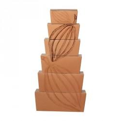Packaging motif cabosses pour chocolatiers - pyramide de Ballotins Criollo