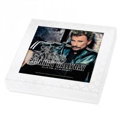 Emballage alimentaire personnalisé Johnny Hallyday en édition limitée - Boite caméléon collection n°1