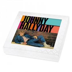 Emballage alimentaire personnalisé Johnny Hallyday en édition limitée - Boite caméléon collection n°3