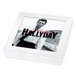 Emballage alimentaire personnalisé Johnny Hallyday en édition limitée - Boite caméléon collection n°4