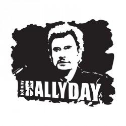 Emballage alimentaire personnalisé Johnny Hallyday en édition limitée - Sticker noir