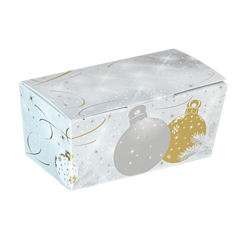 Packaging de Noël pour chocolatiers pâtissiers - Ballotin Noël Argenté