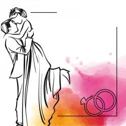 Emballage personnalisé - Carte Caméléon mariage personnalisable I-27