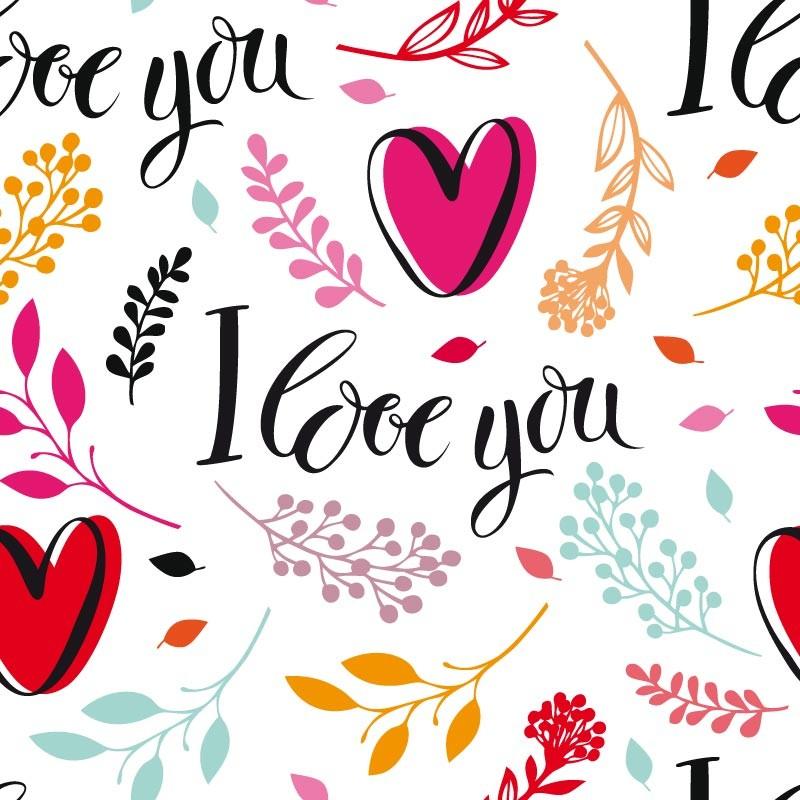 Emballage personnalisé pour fêtes des Amoureux - I love you - Carte Caméléon I-28