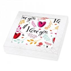 Emballage personnalisé pour fêtes des Amoureux - I love you - Boite Caméléon I-28
