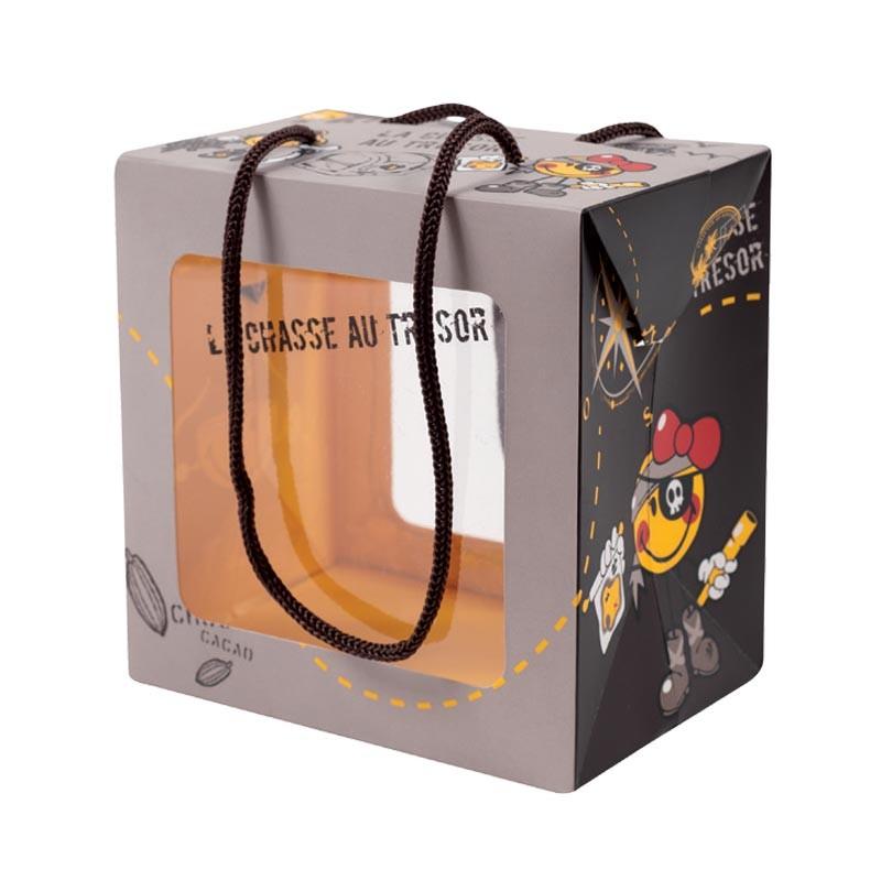 Emballage alimentaire en promo pour pâques - Sac Boîte Poule Smiley