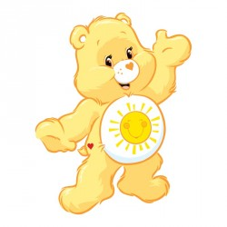 Présentoir Bisounours jaune pour décoration vitrine chocolatiers - En promo