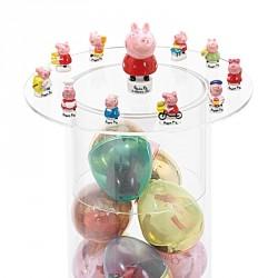 Emballage alimentaire pour Pâques - Distributeur à oeufs et Figurines Peppa Pig