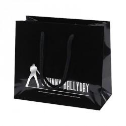 Sac cabas noir brillant personnalisé Johnny Hallyday - Emballage alimentaire