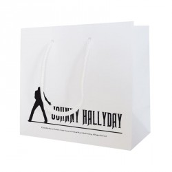 Sac cabas blanc mat personnalisé Johnny Hallyday - Emballage alimentaire