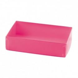 Emballage alimentaire pour pâtissiers - Boîte 16 macarons Fuchsia