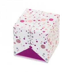 Packaging en forme de cube pour chocolatiers, pâtissiers, confiseurs - Baudelaire Happy Confettis