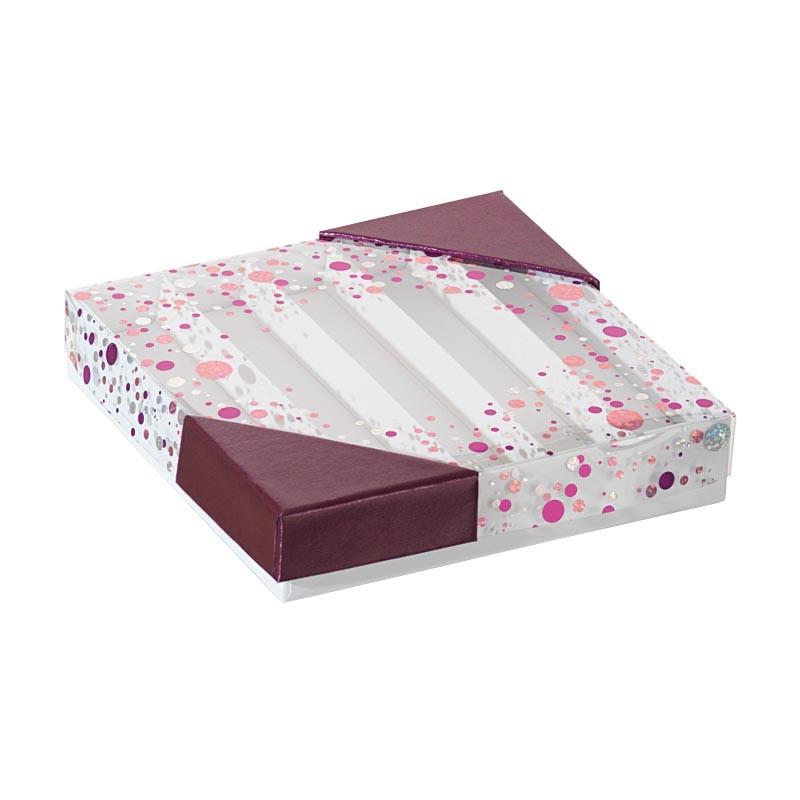 Packaging de luxe pour chocolatiers, pâtissiers et confiseurs - Molière Happy Confettis
