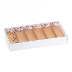 Packaging de luxe pour chocolatiers, pâtissiers et confiseurs - Molière rectangle Happy Confettis